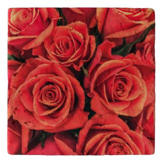 Roses Stone Trivet