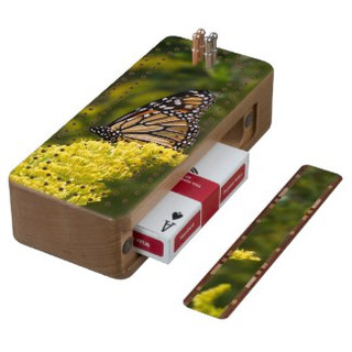 Monarch Butterfly Cribbage Board
