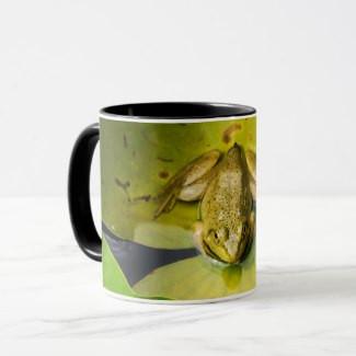 Frog on Lily Pads Coffee Mug
