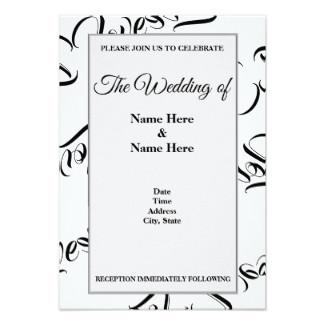 Love Patterned Design Wedding Invitation Card