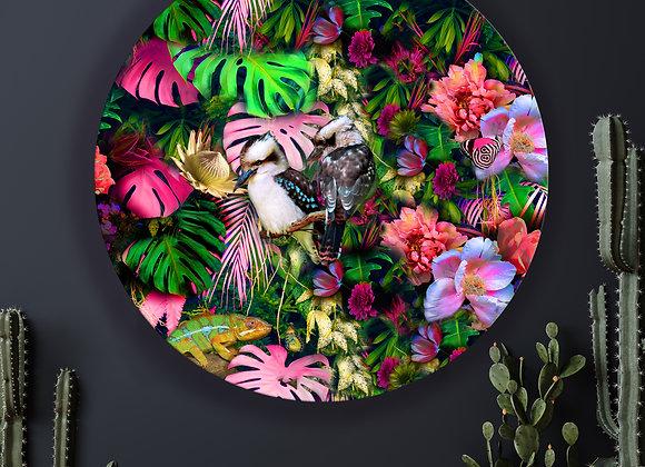 Kookaburra Love Glass Art