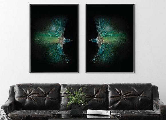 A1 Tui pair Print - Poster Size