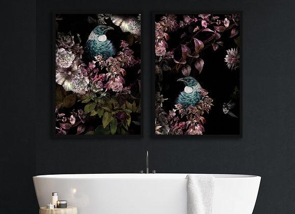 Tui Blossom Print - Poster Size NO FRAME