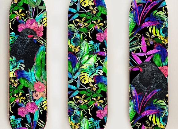 Huia Tropics Skate panel triptych