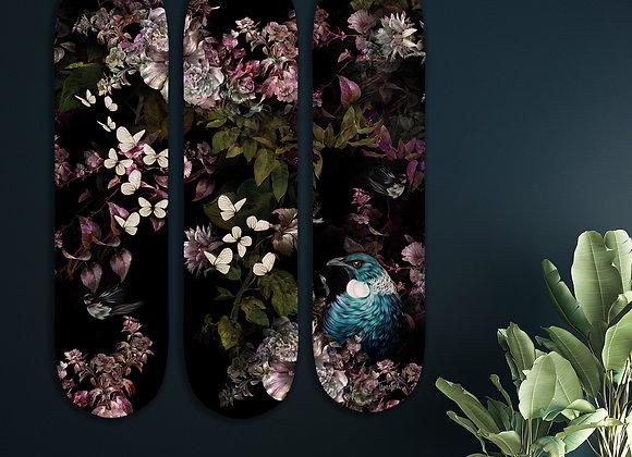 Tui Blossom Skate panel triptych