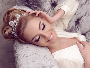 Bride look beauty young caucasian styled