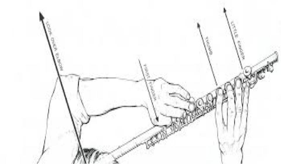 Hand and arm position