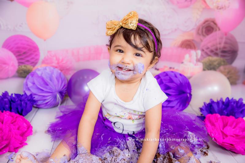 Baby Photography Mumbai  Cake smash Photoshoot By Mukta Thakur Photography