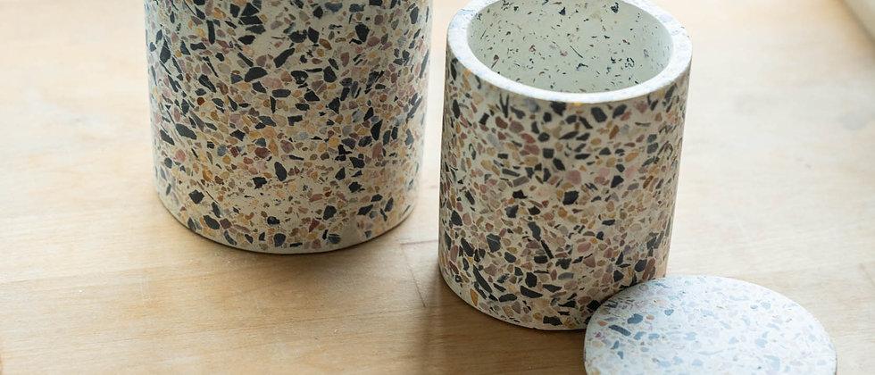 Storage jar【terrazzo】