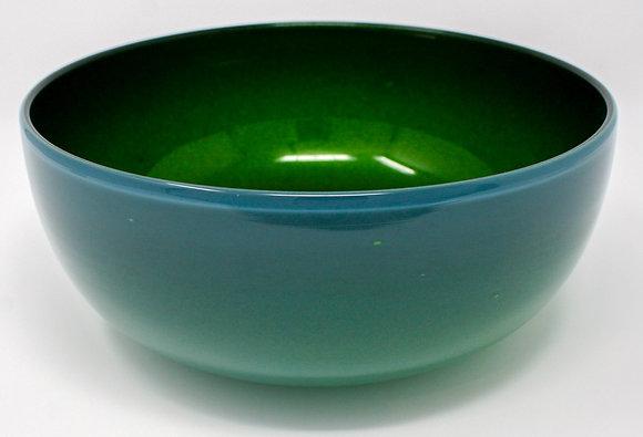 Opal, Silver Green Bowl | Hot Glass | 4x10