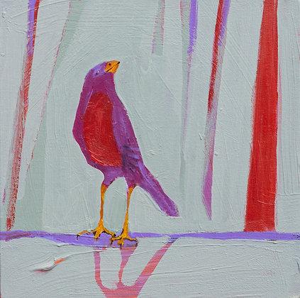 """Helen Durant   The Color of Rain   Acrylic on Wood   12X12"""""""