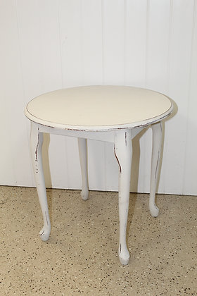 Tall Ivory Side Table