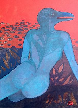 Blue Woman | Acrylic on Canvas | 40x30