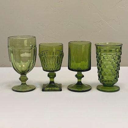 Green Moss Depression Glassware