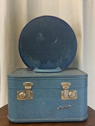 Blue Vintage Hat Boxes