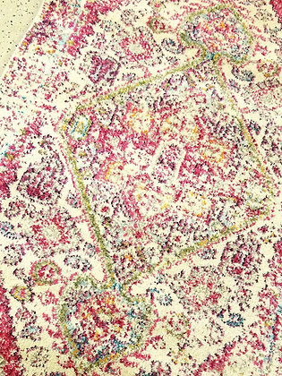 Ivory & Pink Multicolor Rug