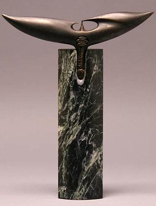 Torso | Serpentino Marble, Bronze | 13x11x2