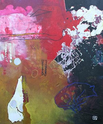 Dog Dreams | Acrylic on Canvas | 70x58