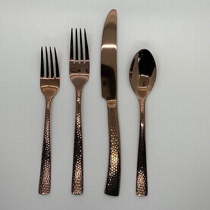 Copper Hammered Flatware