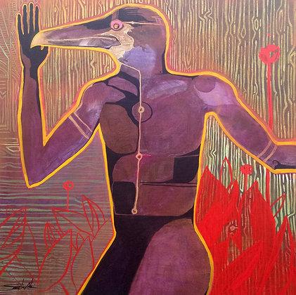 Lofi Egypt   Acrylic on Canvas   36x36