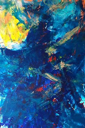 "Lucia de Brito Franco | Searching II | Acrylic on Canvas | 24x36"""
