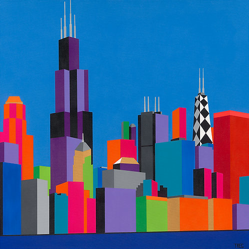 CHICAGO BLUE 38 X 38