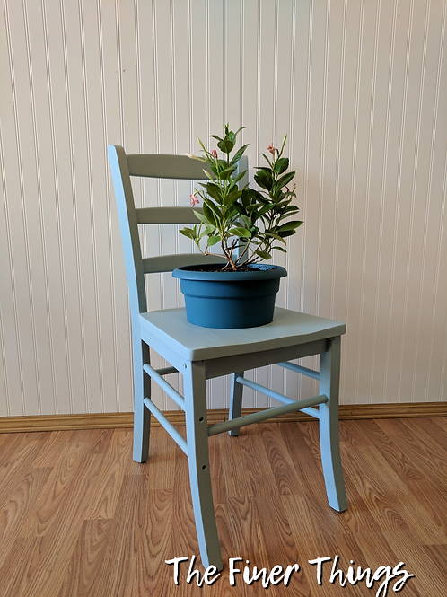 Light Blue Chair Planter