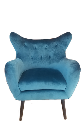 Teal Wingback Chair
