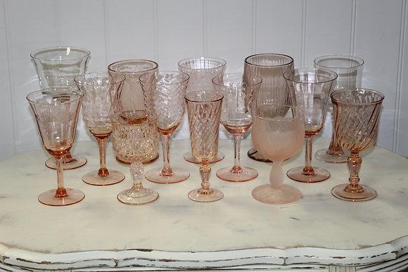 Blush Depression Glassware