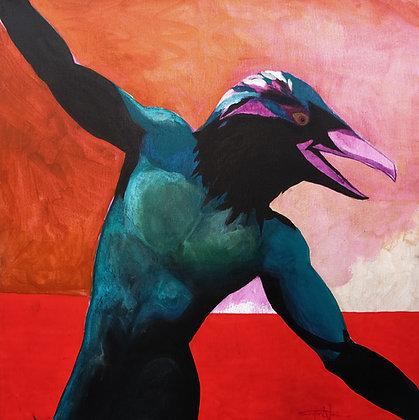 Flight of Man   Acrylic on Canvas   24x24