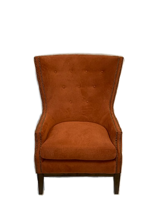 Burnt Orange Wing Back Chair
