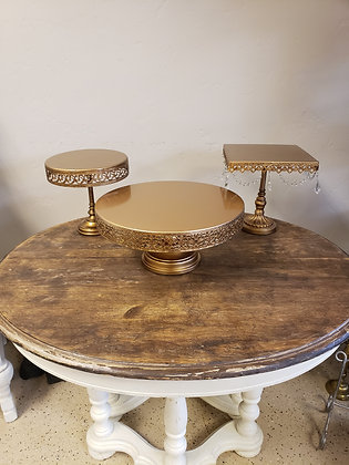 Gold Cake Plates