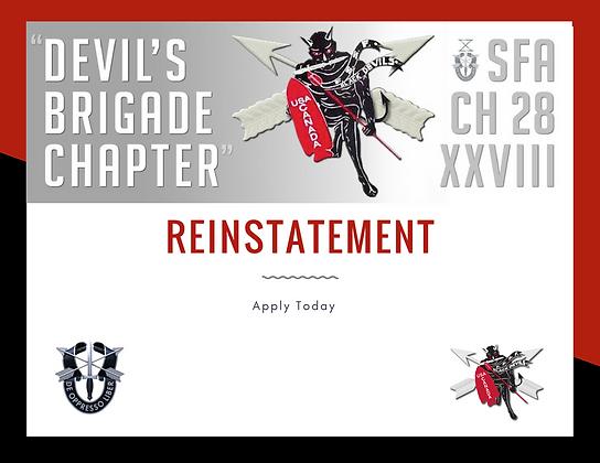 Reinstatement - Membership Expired