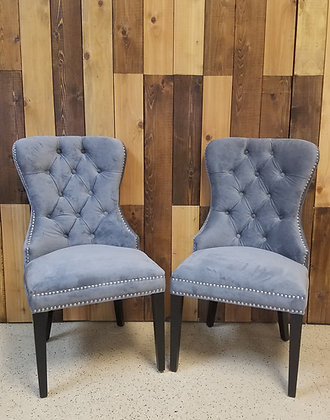 Grey Tufted Chair Set