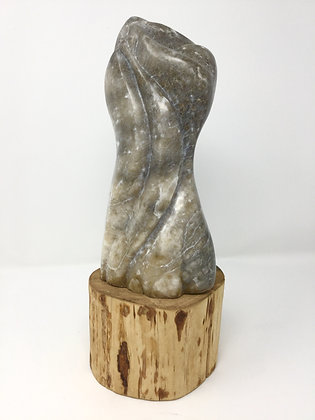 After Bernini - Tree Embrace   Grey Moonstone Alabaster