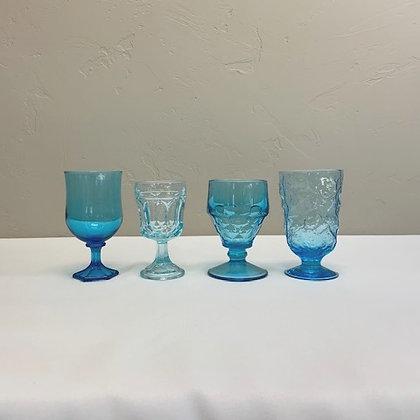 Aqua Depression Glassware