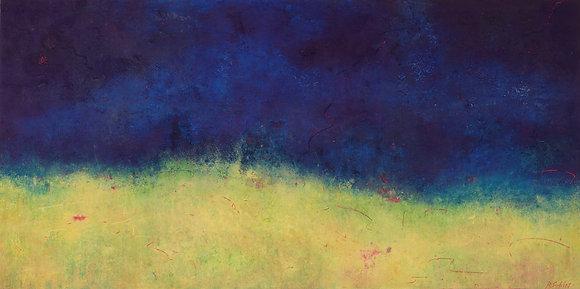 Evening Prayer | Cold Wax on Wood | 22x44