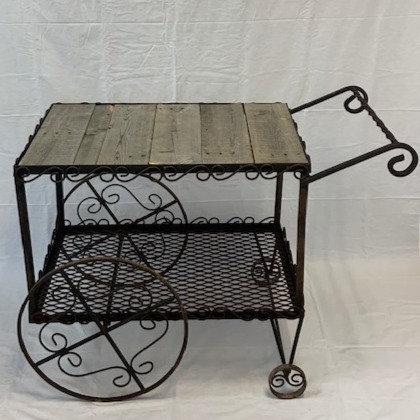 Barn Wood Top Cart