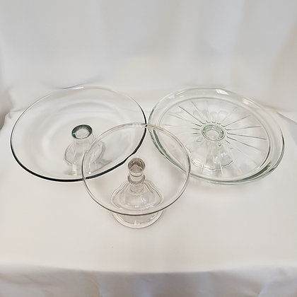 Clear Cake Plates