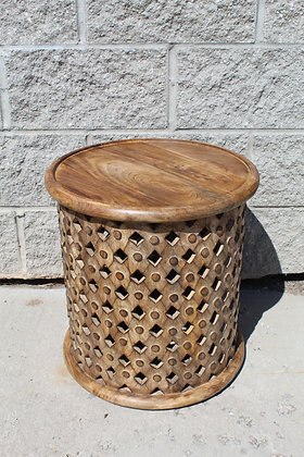 Tribal Wood Side Table