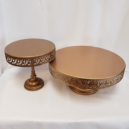Gold Cake Plates