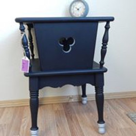 Black and Silver End Table