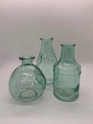 Aqua Bud Vases