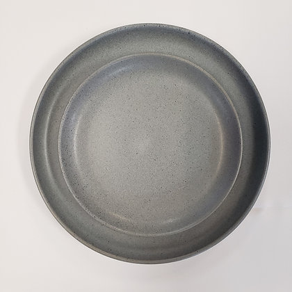 Grey Cement Dinner Plate