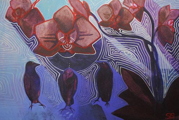 "Shade Wisdom | Acrylic on Canvas | 24x36"""