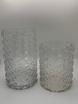 Textured Clear Vase