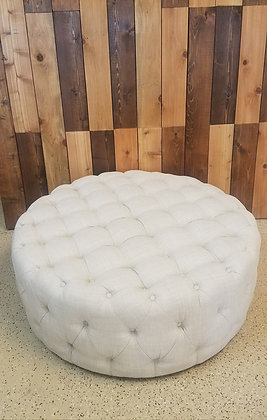 Neutral Tufted Pouf