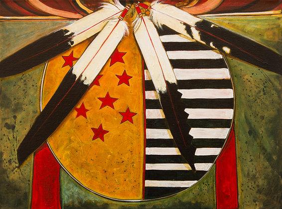 Star Person Shield | Acrylic on Canvas | 18x24