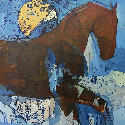 Untitled III | Oil, Acrylic, Charcoal on Canvas | 36x36