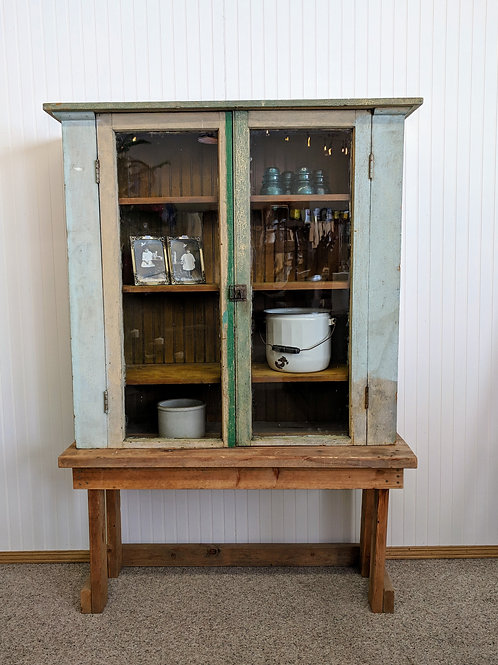 Green Chippy Paint Hutch